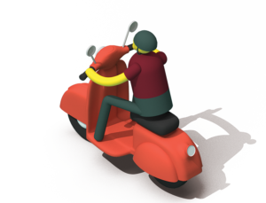 Go Safely Vespa