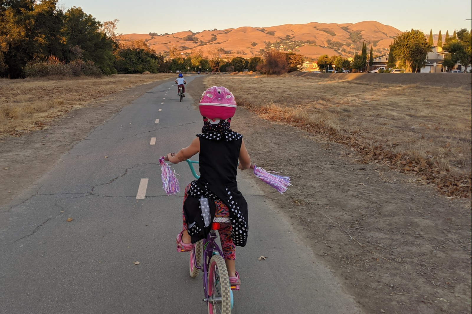 sisters riding safely in san jose