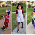 fun outdoor play with mask