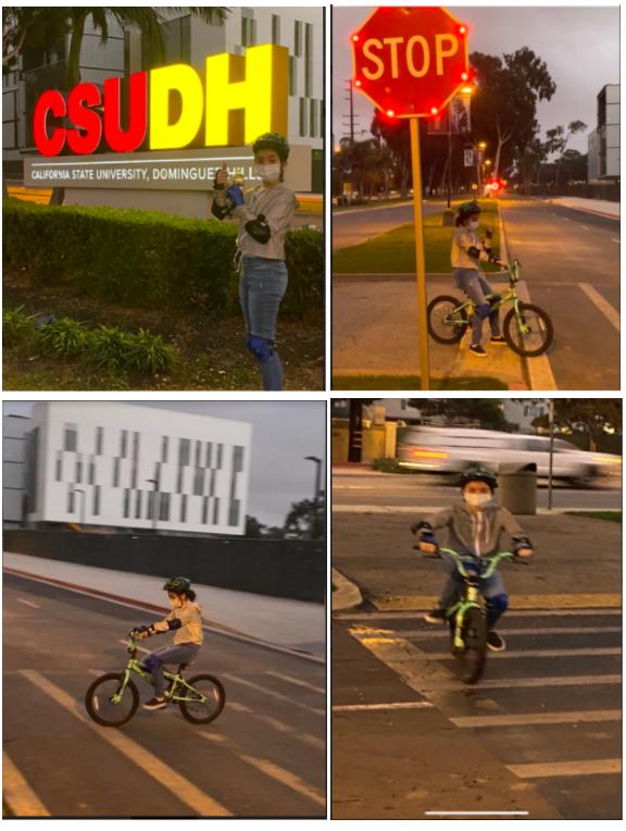 enjoying a safe ride at csudh